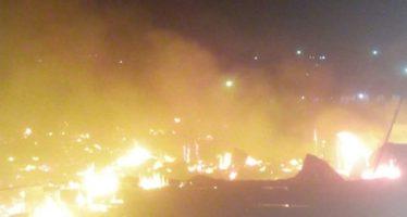 Photos: Fire Guts Structures At The Santasi Roundabout  In Kumasi