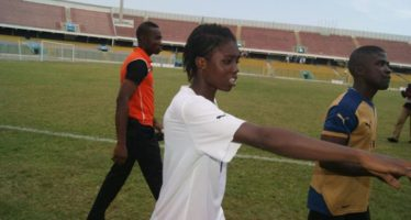 DISGRACE: Ghana Black Maidens Cut Oversize Jerseys With Scissors To Play World Cup Match