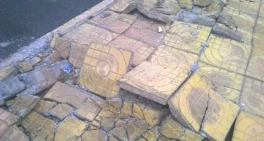 PHOTOS: Condition of Pavements At New Cape Coast Stadium 48 Hours After Commissioning
