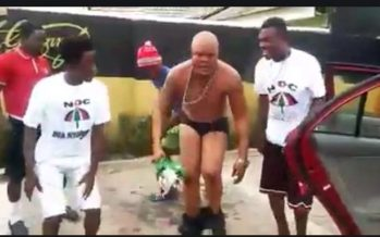 Going Mad? Bukom Banku Takes off Shirt and Pants as he  Celebrates Mahama