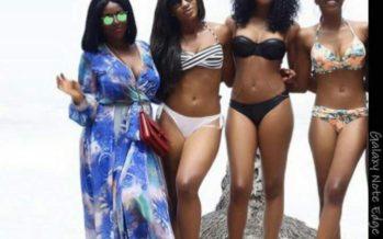 Sandra Ankobiah, Okoro Sisters Expose Flesh in Bikini Pose