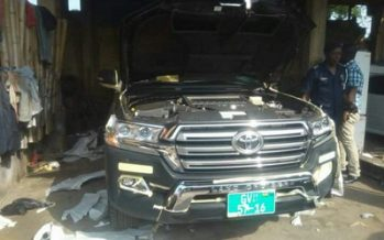 PHOTOS: One of the Stolen Government Vehicles Found at a Spraying Shop