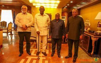 This is What Happened when Nana Addo Met the 3 Former Presidents